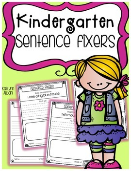 Sentence Fixers for Grammar, Sight Words and Writing - 80 pages!