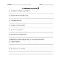 Sentence Fixers in Spanish! Corrige las oraciones