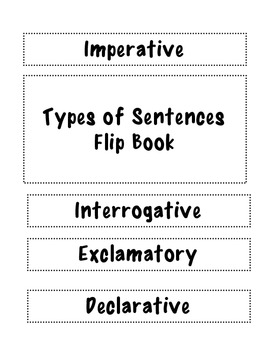 Sentence Flip Book headings
