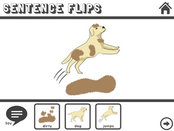 Sentence Flips for Language & Vocabulary (Verbs, Adjectives, Descriptives)