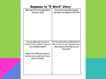 Sentence Fluency PowerPoint
