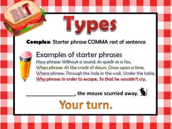 Sentence Fluency BLT!