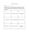 Sentence Fluency Dice Game 2
