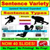 Sentence Types PowerPoint:  Simple, Compound, Complex Sentences