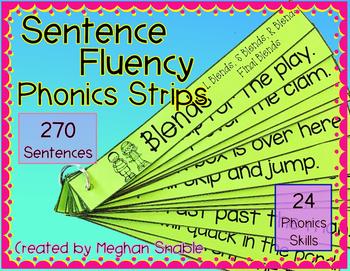 Sentence Fluency Phonics Strips