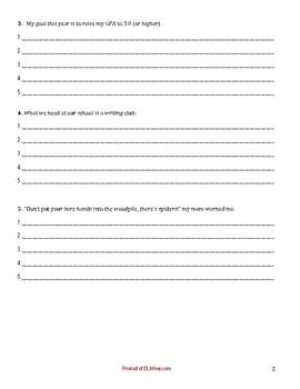 Sentence Fluency Practice Worksheet- 6 traits (3pgs)