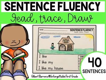 Sentence Fluency {Read, Trace, Draw}