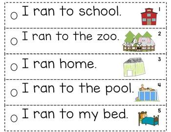 Sentence Fluency Set 2