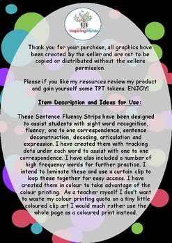Sentence Fluency Strips