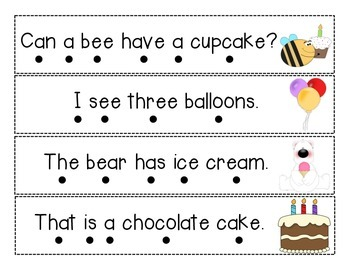 Sentence Fluency Strips Practice
