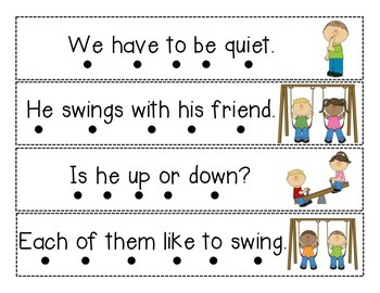 Sentence Fluency Strips - SAMPLE