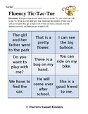 Sentence Fluency Tic-Tac-Toe EDITABLE