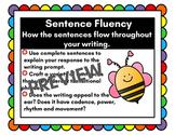 Sentence Fluency Writing Trait Anchor Chart
