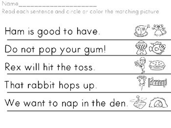 Sentence Fluency and Picture Match