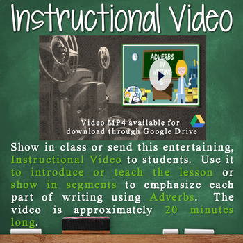 ADVERBS - Sentence Fluency and Grammar in Writing - Middle School