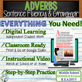Adverbs Grammar Sentence Fluency Activity GOOGLE Links Lesson Plan & Worksheets