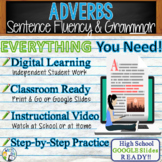 Adverbs in Grammar Resource Activity - GOOGLE Links Lesson