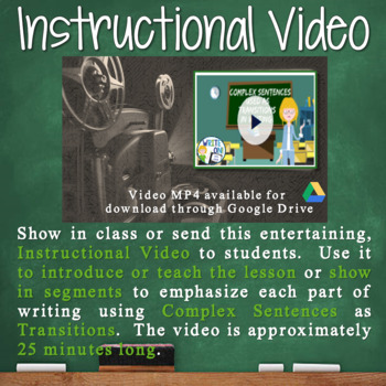 COMPLEX SENTENCES AS TRANSITIONS - Sentence Fluency and Grammar in Writing - M S