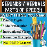 GERUNDS / VERBALS - Sentence Fluency and Grammar in Writing - High School
