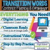 Transition Words for Writing & Transition Word List  Sentence Fluency in Grammar