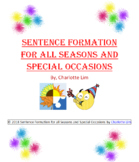 Sentence Formation for all Seasons and Special Occasions - BUNDLE