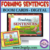 Language Therapy BOOM CARDS Sentence Formulation Teletherapy Unscrambling