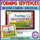 Language Therapy BOOM CARDS Sentence Formulation Telethera