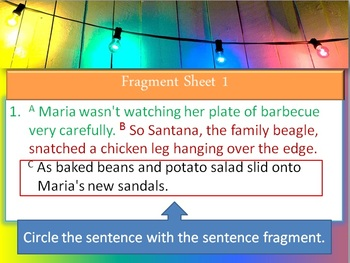 Sentence Fragment Introduction