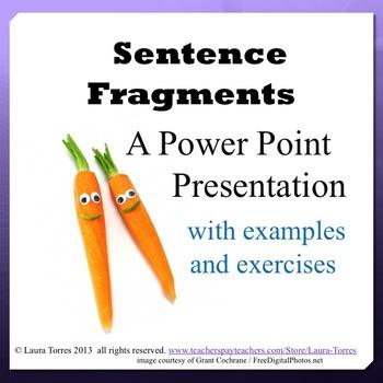 Sentence Fragment Power Point Presentation
