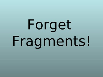 Sentence Fragment Powerpoint