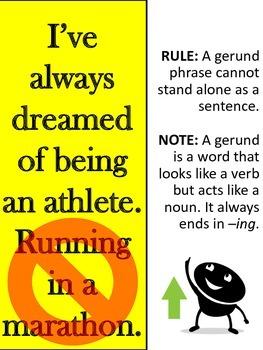 Sentence Fragment Rules Poster Pack