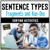 Sentence, Fragment, Run-On Sort Activity