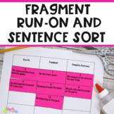 Sentence Fragment Run-On Activity