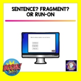 Sentence, Fragment, and Run-on BOOM Cards and Mini-lesson