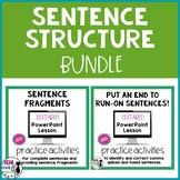 Sentence Fragment and Run-on Sentence Bundle