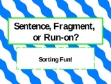 Sentence, Fragment, and Run-on Sort