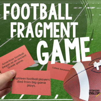 Sentence Fragments Matching Game with Football Theme