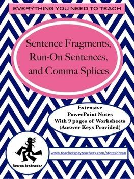 Sentence Fragments, Run-On Sentences, & Comma Splice (PowerPoint ...