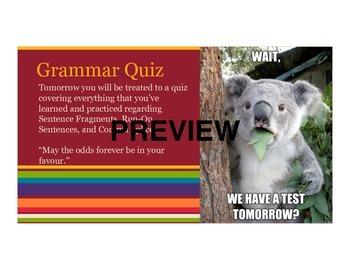 Fragments, Run-On Sentences, & Comma Splice (PowerPoint & Worksheets)