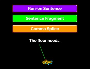 Sentence Fragments, Run-on Sentences, Comma Splices-Boom Cards