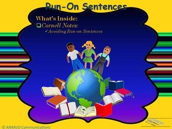 Run-on Sentences Notes