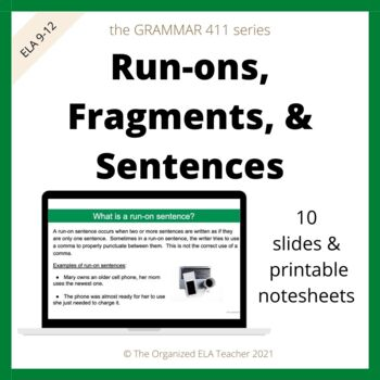 Sentence Fragments and Run-Ons - Making Complete Sentences Grammar
