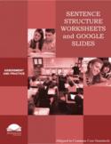 Sentence Structure Worksheets and Google Slides
