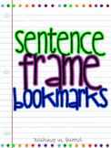 Sentence Frame Bookmarks
