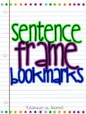 Sentence Frame Bookmarks