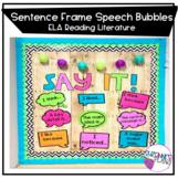 Sentence Frame Speech Bubbles ELA