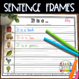 Sentence Frames   Writing Frames