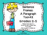 Sentence Frames - A Paragraph Tool-Kit