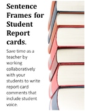 BC Sentence Frames For Student Report Cards! Grades 4-7!