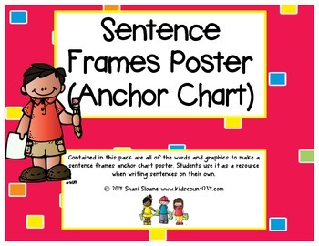 Sentence Frames Poster